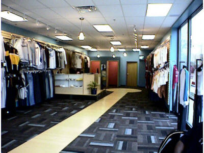 Interior design and planning for a clothing store